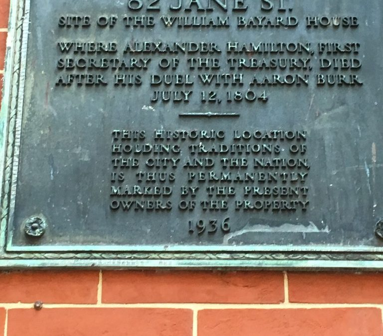 Today, In 1804, Alexander Hamilton Died in Greenwich Village