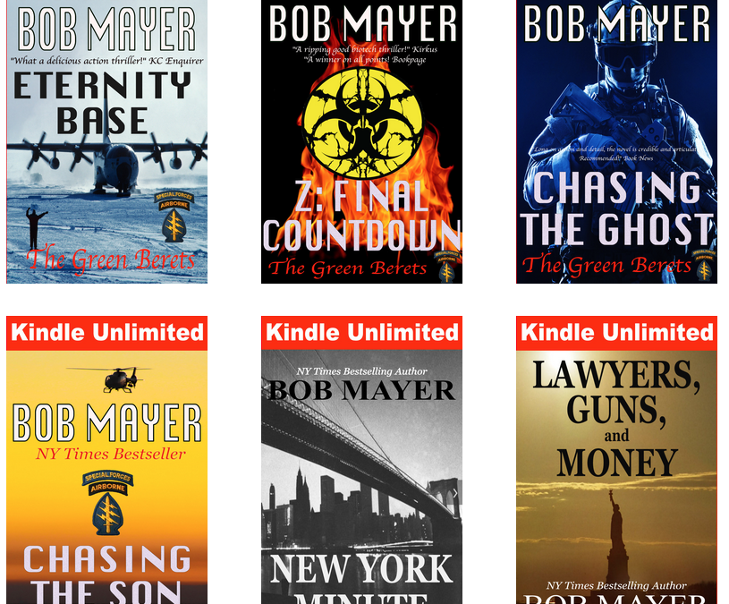 62 Kindle Unlimited Titles on one page