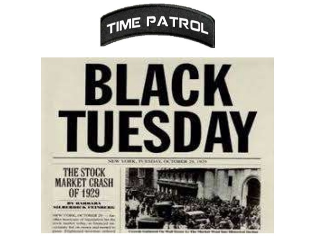 29 October is known as Black Tuesday in History. The 1st Internet Message was also sent on 29 Oct.