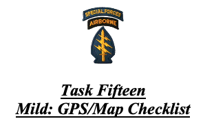 Day 274: Survival Preparation. GPS and Maps: Tasks 15