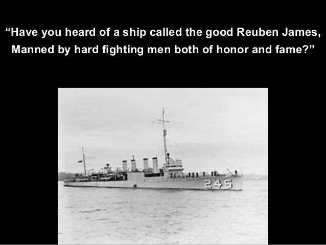USS Reuben James: SUNK OVER A MONTH BEFORE PEARL HARBOR
