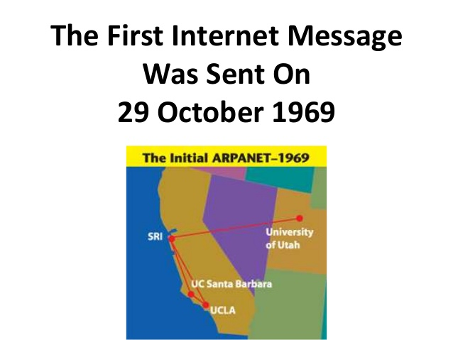 The First Internet Message Was Sent On 29 October 1969