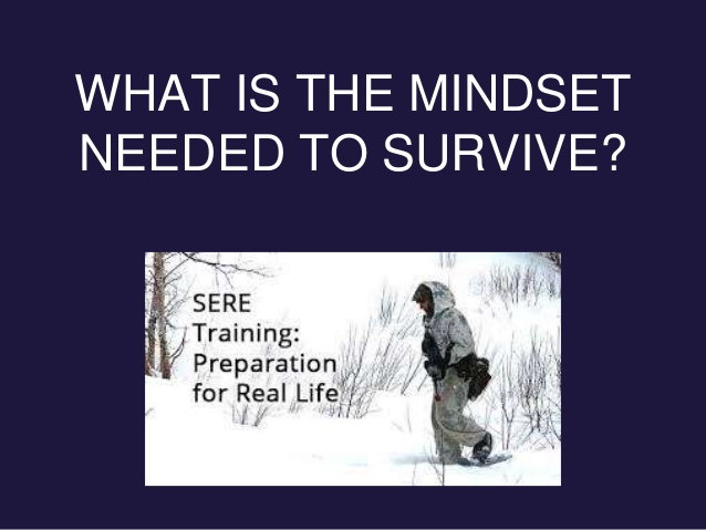 WHAT IS THE MINDSET NEEDED TO SURVIVE?
